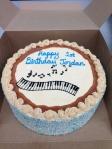 """""""whimsical"""" piano cake"""